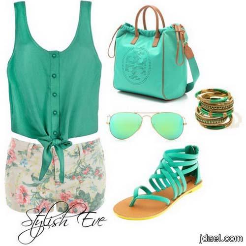 ملابس صيفيه بخطوط الموضه وباحلى الالوان والاكسسوارات