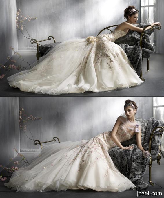 فساتين زفاف لاجمل عرايس موديلات فساتين زفاف