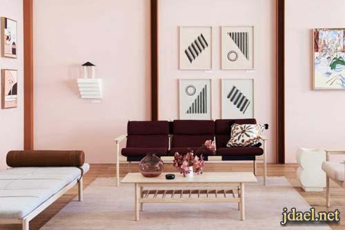 جبس واسلوب عصري ديكور غرفة المعيشة بالالوان