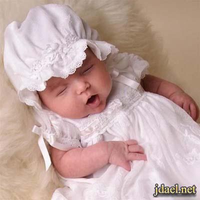 فساتين مواليد ملابس نوم بنات اطفال حديثى الولادة