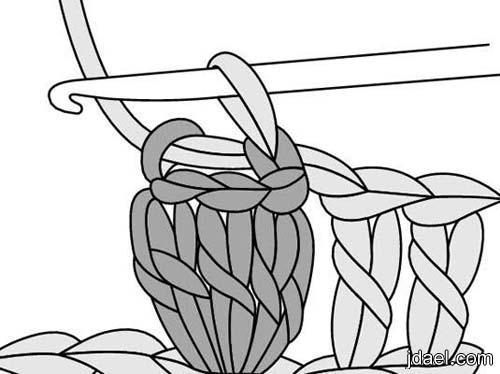 طريقة تطريز غرزة الفيشارة بالباترون وصور للموديلات