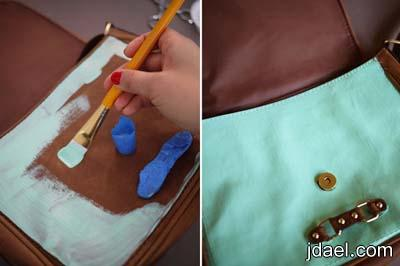 تجديد الاكسسوارات وتزيين شنط اليد بالفرو والديكواج بالصور