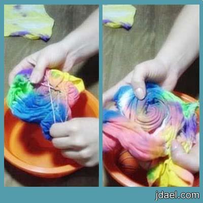 خطوات صباغة الملابس في المنزل صبغ البلايز القطن بالالوان بيدك