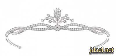 اطواق شعر الماس للبنات لاناقة السهرات. تيجان شعر سلفر