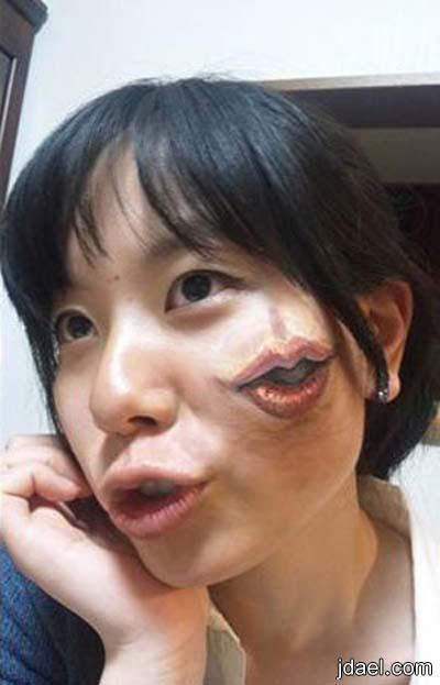 الرسم بالخداع البصري على الجسم بابتكارات اليابانيه سان