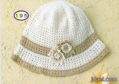 ارقى غرز الكروشيه لاحلى قبعات وكوفيات الشتاء بالباترون للصبايا