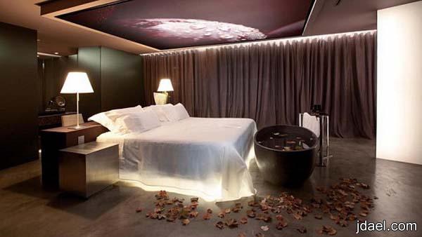 ديكورات غرف نوم رومنسيه بتصاميم راقيه للعرسان