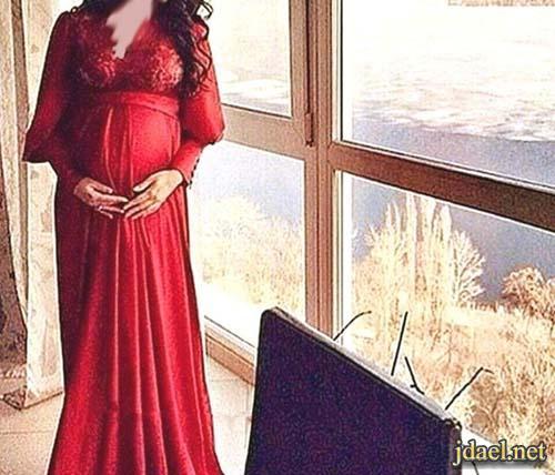 فساتين سهره للحمل موديلات وقصات وانعم الحردات لاناقة الحوامل