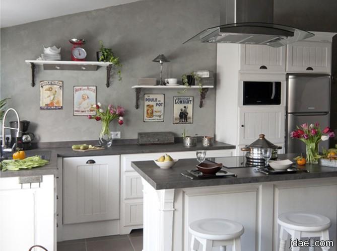 اثاث المطبخ التقليدي تحف فنية طاولة وكراسي خشبية
