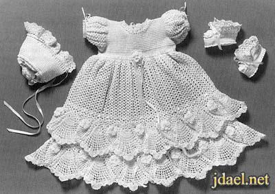 غرز كروشيه لارق الفساتين والبدل للاولاد والبنات بيبهات ومواليد