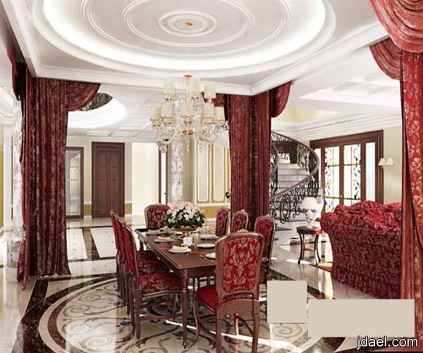 اثاث منازل بديكورات كلاسيك في التصاميم والالوان