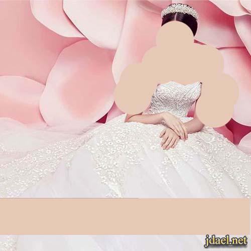 فساتين زفاف فخمه للعرايس بالدانتيل المفرغ ومطرز تطريز فخم