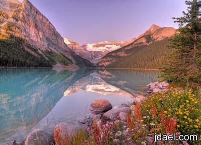 سياحه ببحيرة لويز في كندا وجهة سياحيه مع الملوك والامراء لاجمل البحيرات لويزالكنديه