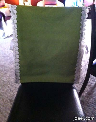 خياطة تلبيسات كراسي طاولة الطعام بموديل ناعم وسهل جدا بالصور