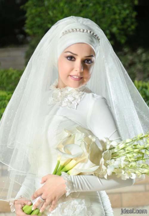 لفات طرح حجاب للعروسه المحجبه باجمل ميكب واطلاله