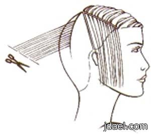 خطوات قص الشعر الكثيف والخفيف لغير المحترفين بالصور