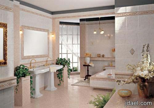 جبس بورد بتصاميم جديده للاسقف والجدار للحمامات العصريه