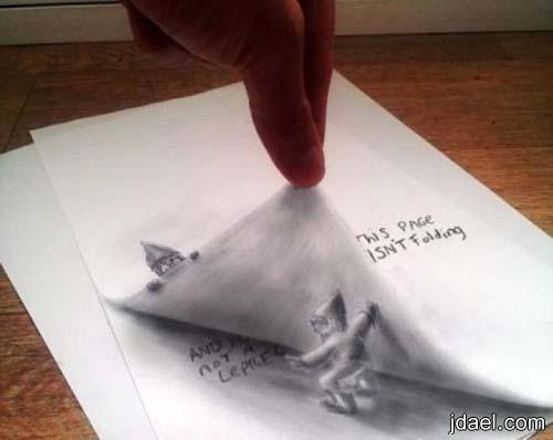 صور رسم بالقلم والورق واغرب رسومات ثلاثية الابعاد روعه