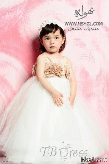 موديلات فساتين زفة الزفاف للصغيرات فساتين لاناقة البنوته الافراح
