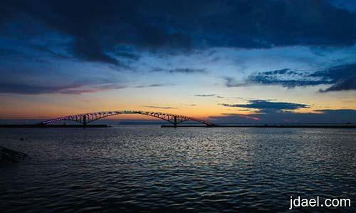 صور جميله جسر قوس المطر بتايوان الممزوج بجمال الطبيعه والتكنولوجيا