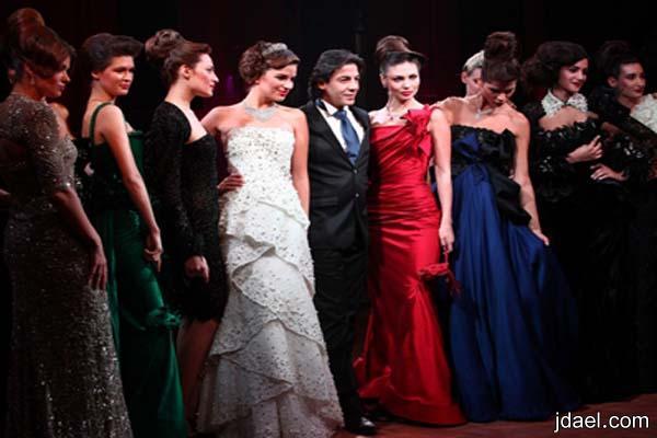 مجموعة رائعة فساتين السهرة للمصمم ايلي فغالي