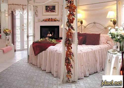 تصاميم غرف نوم رومنسيه للعرسان ديكور انتيك مصري وفرنسي