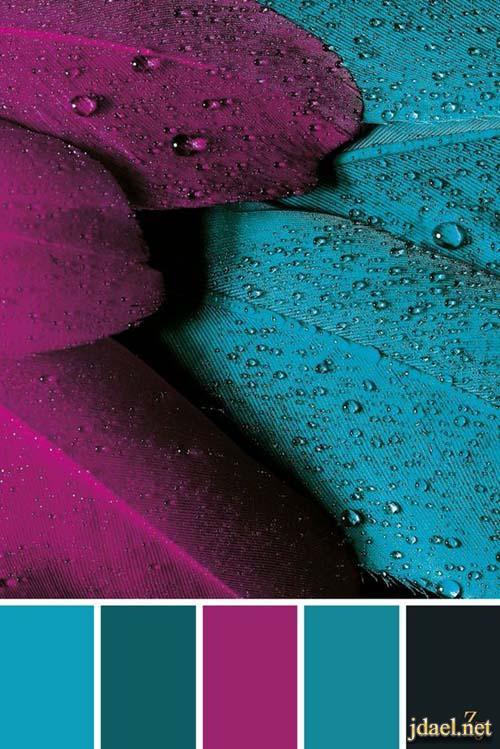 عشق الالوان اللون التيفاني ودرجاتة والوان تتناسق مع التيفاني