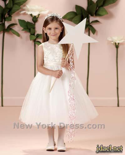 فساتين بنوتات اطفال دانتيل واورجنزا لبنات الورد ليلة الزفاف