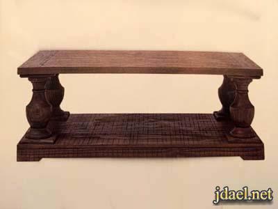 طاولات جلد وخشب home centre لغرف الاستقبال والجلوس