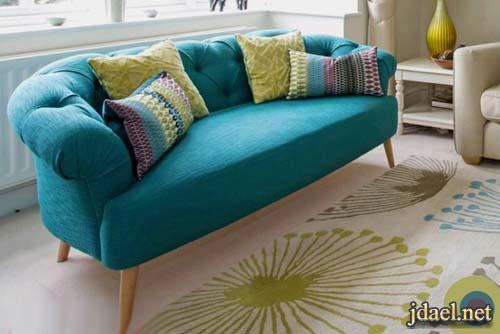كنب تركي بالوان عصرية لتصميم ديكور غرفة الجلوس