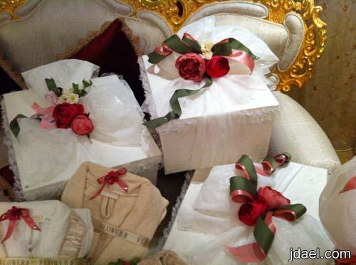 تزيين وتغليف دبش وجهاز العروسه بابتكارات راقيه بتصاميم سونا وسوما