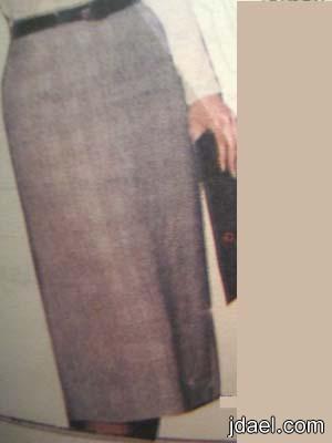 خياطة التنورة الجونلة الضيقة بدون خياطة الجنب على القماش