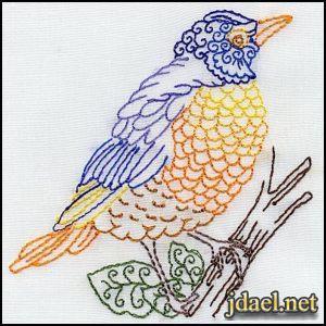 صور عصافير مطرزة تطريز اشكال للعصافير باجمل الالوان