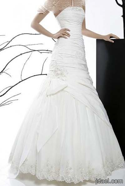 فساتين زفاف 2014 للعروسه بموديلات راقيه واناقه متميزه بالفخامه