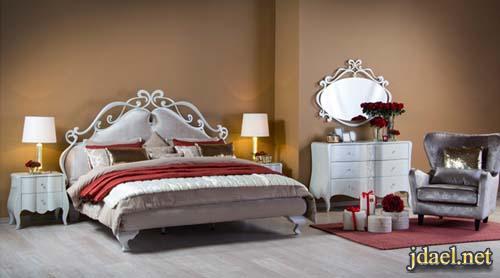 جديد غرف نوم ميداس بتصاميم كلاسيك والوان الابيض والفضي