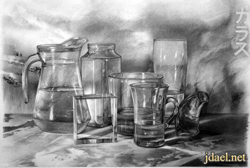 ابداع الرسم بقلم رصاص ولوحات خيال
