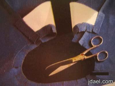 طريقة خياطة القبة القابلة للثني الطي