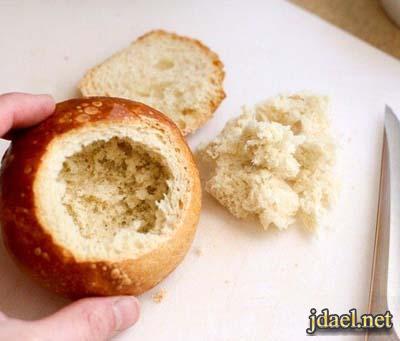 طريقة عمل خبز الكيزر بحشوة الاجبان والبيض بالفرن