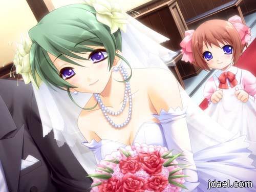 صور بنات انمي واحلى لحظات ليلة الزفاف