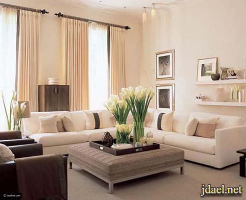 ديكور غرف معيشه بافكار راقيه والوان روعه عصريه