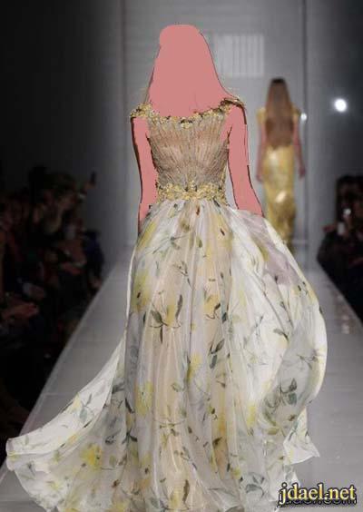 ازياء المصمم طوني ورد لفساتين السهره بالترتر والدانتيل الشيفون