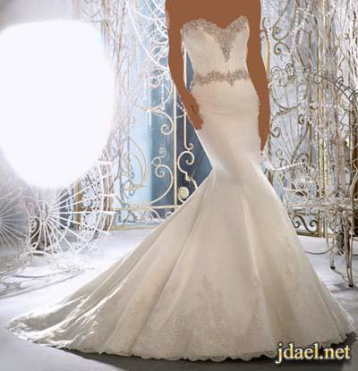 فساتين زفاف دانتيل مشكوكه باللولو والترتر لاطلاله ملائكيه للعروسه