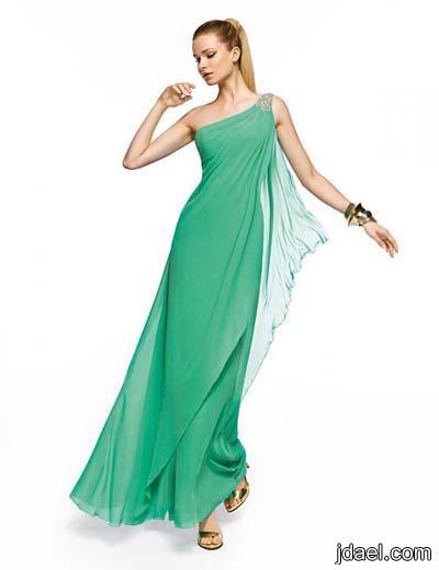 ازياء 2014 واجمل الفساتين بالشيفون للسهرات