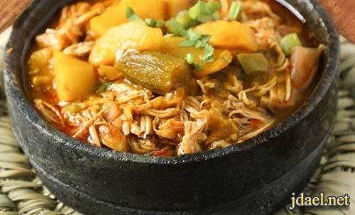طبخ يمني وصفة العقدة بالدجاج بالطريقة اليمنية