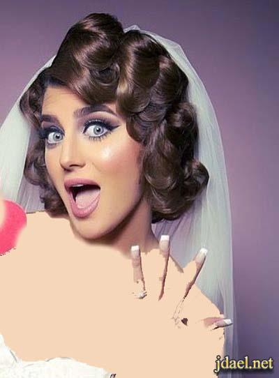 تسريحات شعر للعروسه وموديلات طرحة الفرح المناسبه للتسريحه
