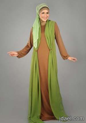 فساتين اكمام طويله للحجاب وجلابيات مشغوله للمحجبات