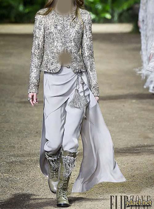 ترتر ودانتيل لملابس جاهزه تصميم المصمم ايلي صعب