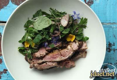 طبخ لحم كتف ضأن بتوابل وبتلات الورد للشيف طارق ابراهيم