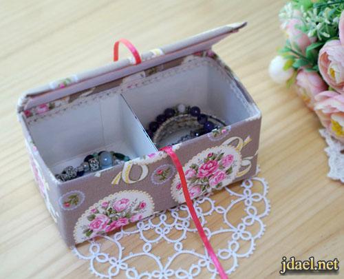 تعلمي صنع علبة مجوهرات طريقة سهلة وبسيطة لعمل صندوق اكسسوارات