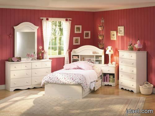 جديد ديكورات غرف نوم للبنات بالوان روعه وتصاميم الجدار بالورق البارز